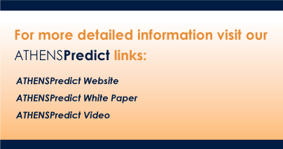 For more detailed information visit our ATHENSPredict links:ATHENSPredict Website, ATHENSPredict White Paper, ATHENSPredict Video